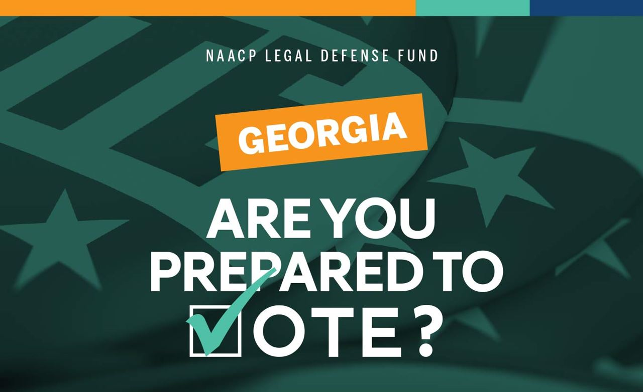 Palm card with text, Georgia—are you prepared to vote?